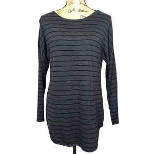 Joan Vass Cashmere Stripe Tunic Sweater-N1089